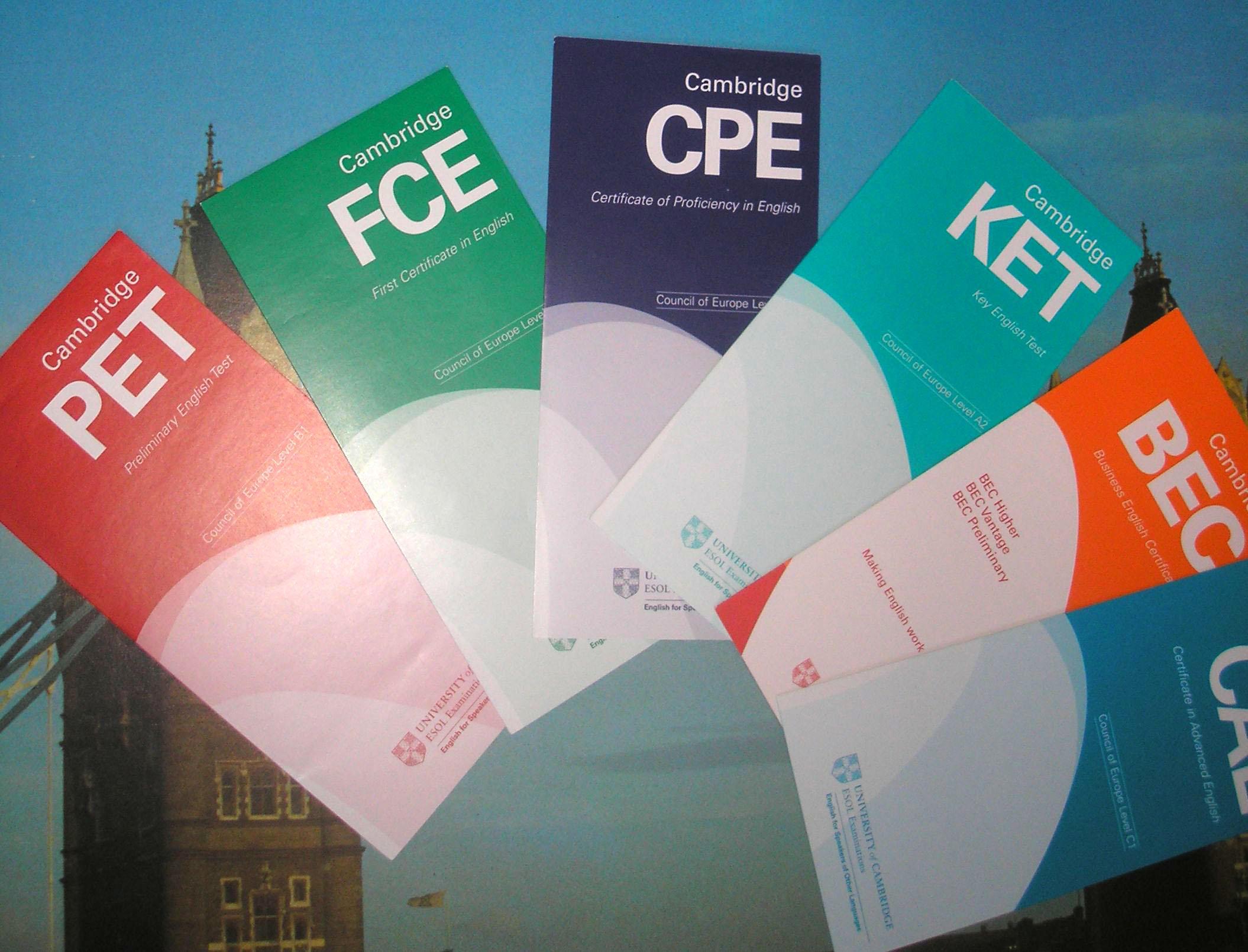 Presentación de exámenes Cambridge:ket,Pet,fce,cpe
