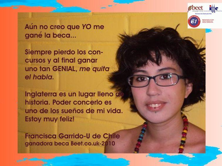 ganadora beca para estudiar inglés en  inglaterra 2010