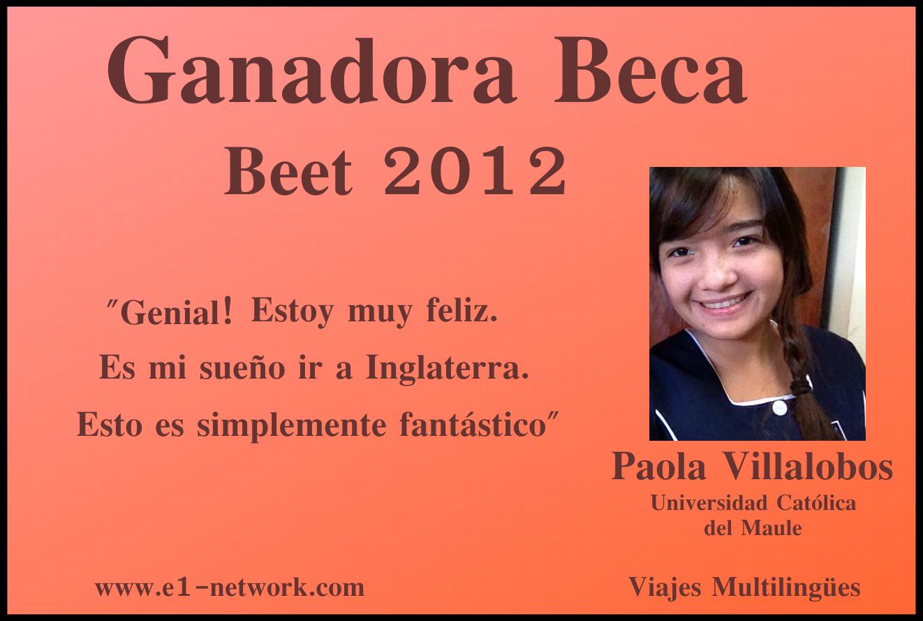 Ganadora Beca 4 semanas inglaterra 2012