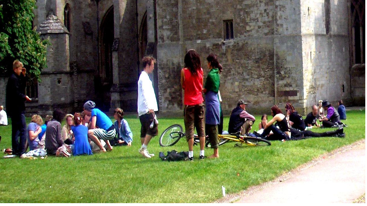 Conversar en inglés en el parque